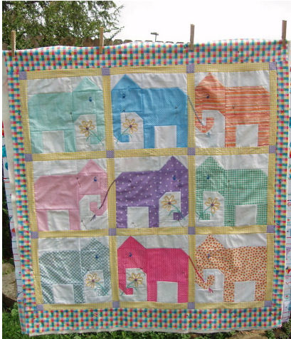 Free Quilt Patterns for Kids - Baby Blocks with Love Quilt