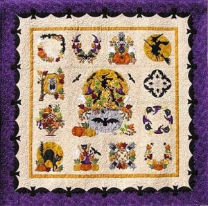 Free Halloween Quilt Patterns, Halloween Wall Hangings