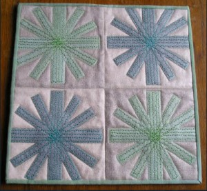 mini quilt from plate