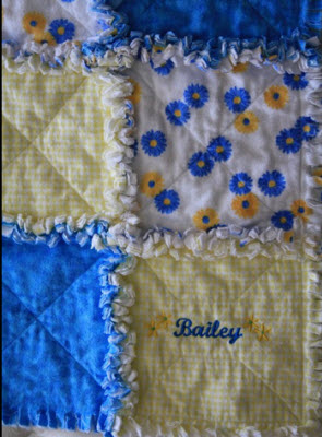 DENIM CIRCLE RAG QUILT AND BAG PATTERN SET - Pieced