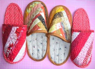Men's Size 9 10 or Women's Size 10 11 Slippers by woolywooly ... : quilted slippers pattern - Adamdwight.com