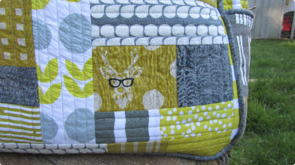 quilted weekender bag for QuiltCon