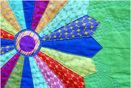 Jellybeans quilt by Go-Go and the tour
